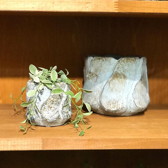 DEC BLUE  鉢カバー Mサイズ  セメント  鉢カバー 観葉植物09