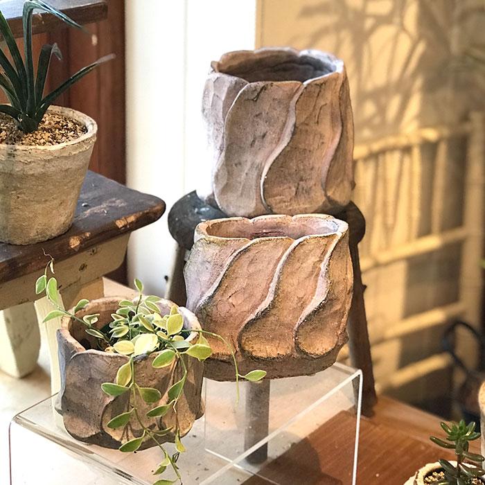 DEC PINK  鉢カバー Sサイズ セメント ラウンド型  鉢カバー 観葉植物 10