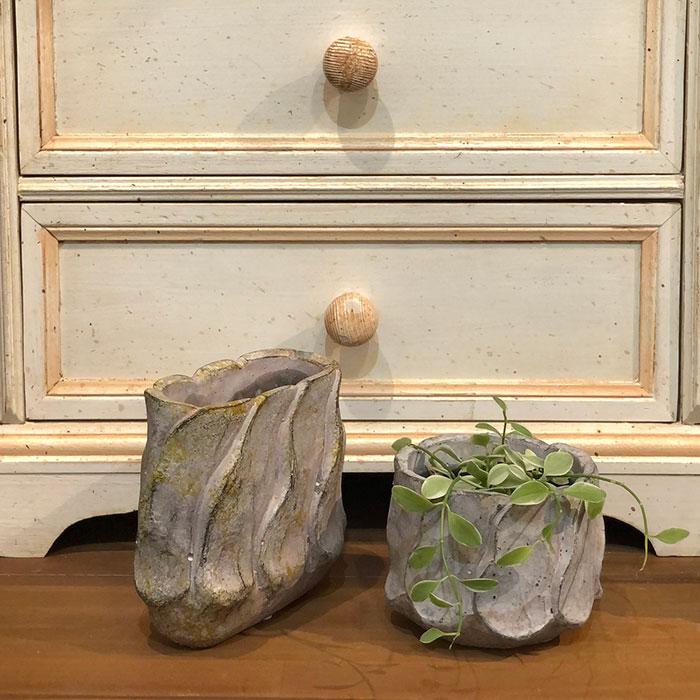 DEC PINK  鉢カバー Sサイズ セメント ラウンド型  鉢カバー 観葉植物 11