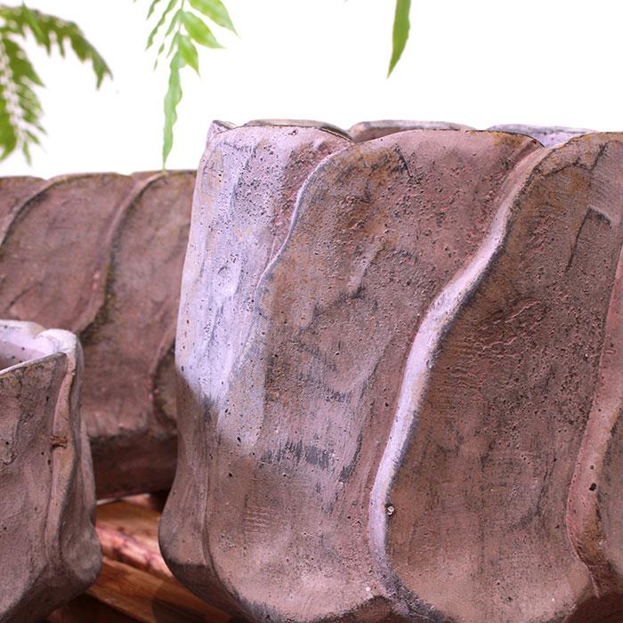 DEC PINK  鉢カバー Sサイズ セメント ラウンド型  鉢カバー 観葉植物 04