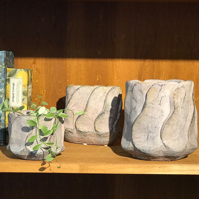 DEC PINK  鉢カバー Sサイズ セメント ラウンド型  鉢カバー 観葉植物 05