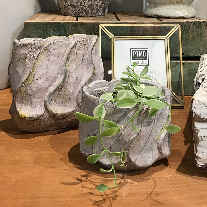 DEC PINK  鉢カバー Sサイズ セメント ラウンド型  鉢カバー 観葉植物 07