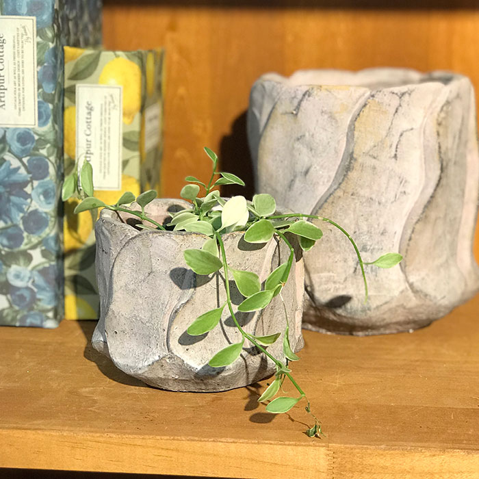 DEC PINK  鉢カバー Sサイズ セメント ラウンド型  鉢カバー 観葉植物 08