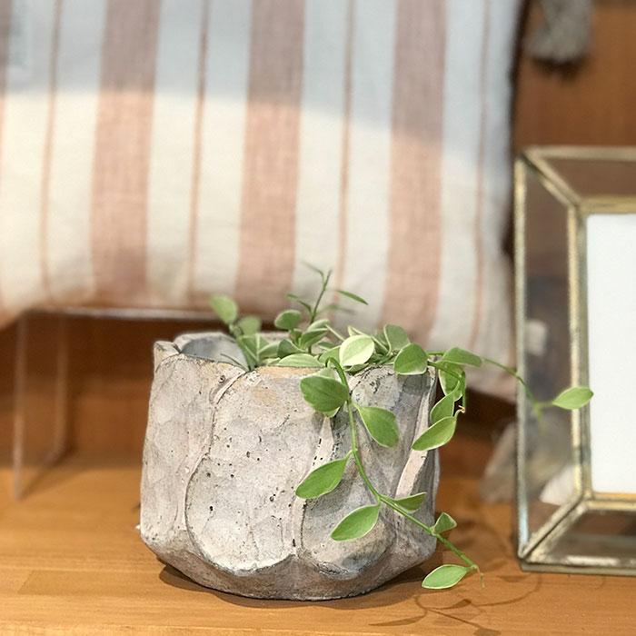 DEC PINK  鉢カバー Sサイズ セメント ラウンド型  鉢カバー 観葉植物 09