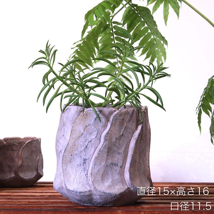 DEC PINK  鉢カバー Lサイズ PINK セメント ラウンド型  鉢カバー 観葉植物