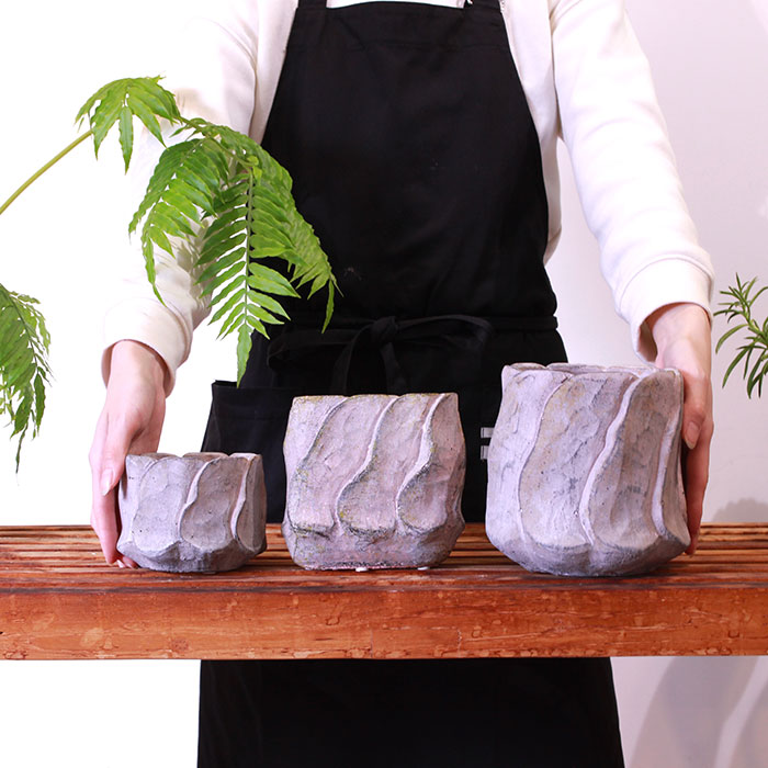 DEC PINK  鉢カバー Lサイズ PINK セメント ラウンド型  鉢カバー 観葉植物03