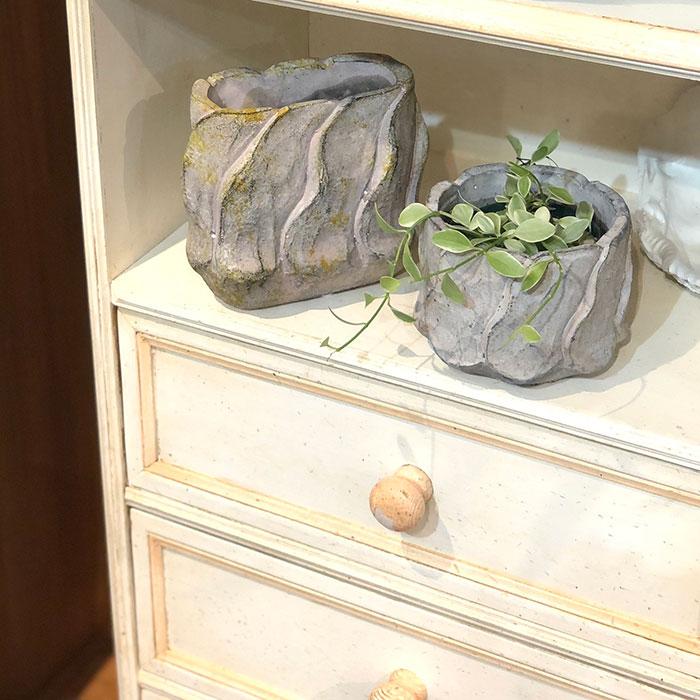 DEC PINK 鉢カバー Sサイズ オーバル型 セメント  鉢カバー 観葉植物12