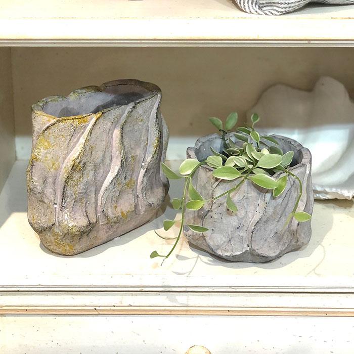DEC PINK 鉢カバー Sサイズ オーバル型 セメント  鉢カバー 観葉植物14