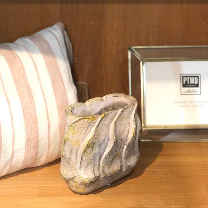 DEC PINK 鉢カバー Sサイズ オーバル型 セメント  鉢カバー 観葉植物15