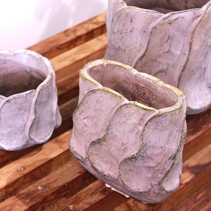 DEC PINK 鉢カバー Sサイズ オーバル型 セメント  鉢カバー 観葉植物04
