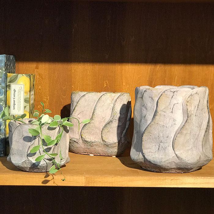 DEC PINK 鉢カバー Sサイズ オーバル型 セメント  鉢カバー 観葉植物09