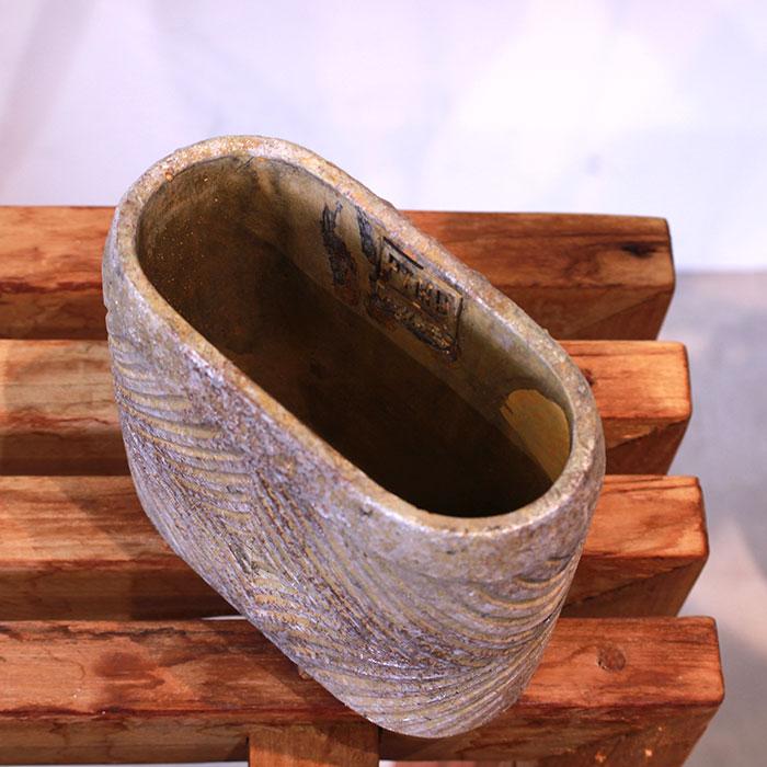 LAW 鉢カバー Sサイズ オーバル型 セメント オレンジ  鉢カバー 観葉植物04
