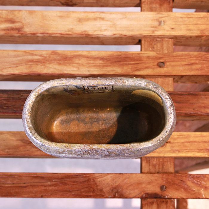 LAW 鉢カバー Sサイズ オーバル型 セメント オレンジ  鉢カバー 観葉植物05