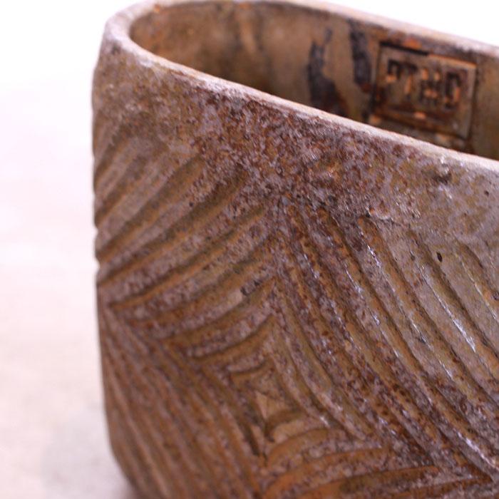 LAW 鉢カバー Sサイズ オーバル型 セメント オレンジ  鉢カバー 観葉植物08