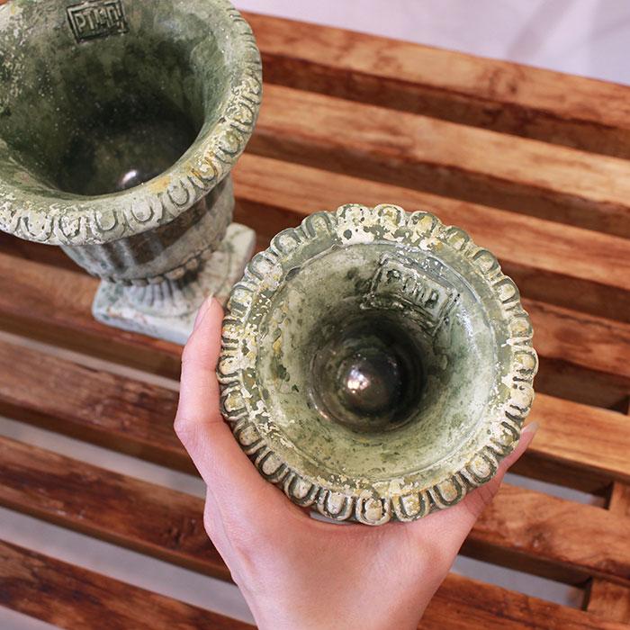 ROGE 鉢カバー XXSサイズ  セメント  鉢カバー 観葉植物 アンティーク調12