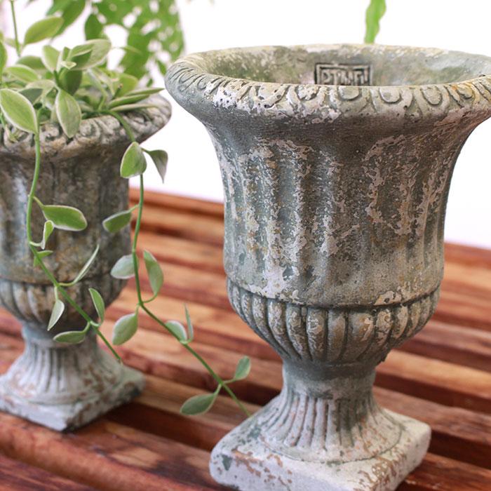 ROGE 鉢カバー XSサイズ  セメント  鉢カバー 観葉植物 アンティーク調13