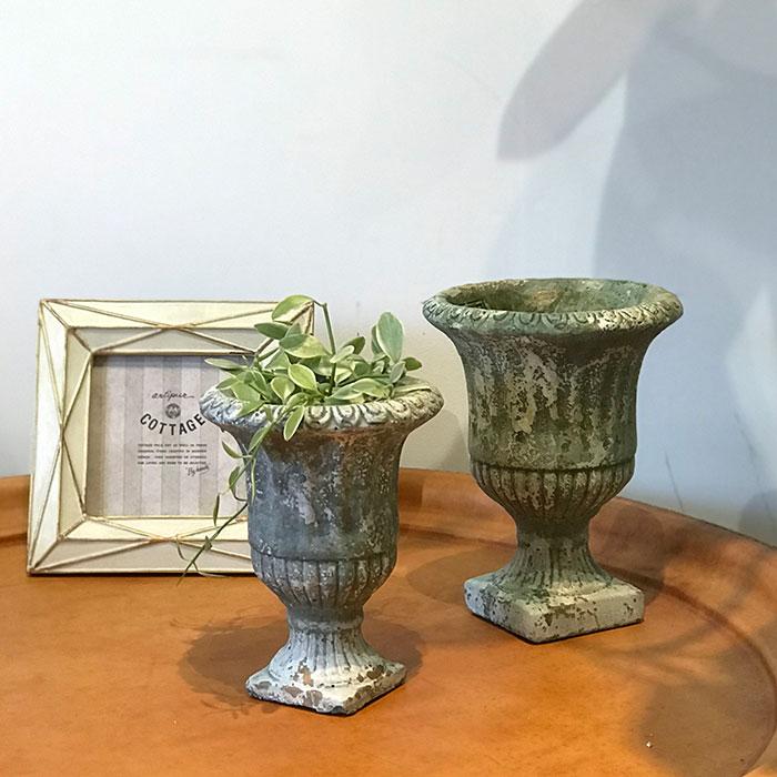 ROGE 鉢カバー XSサイズ  セメント  鉢カバー 観葉植物 アンティーク調17