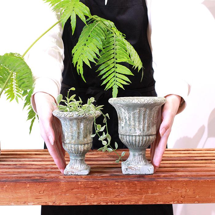 ROGE 鉢カバー XSサイズ  セメント  鉢カバー 観葉植物 アンティーク調02