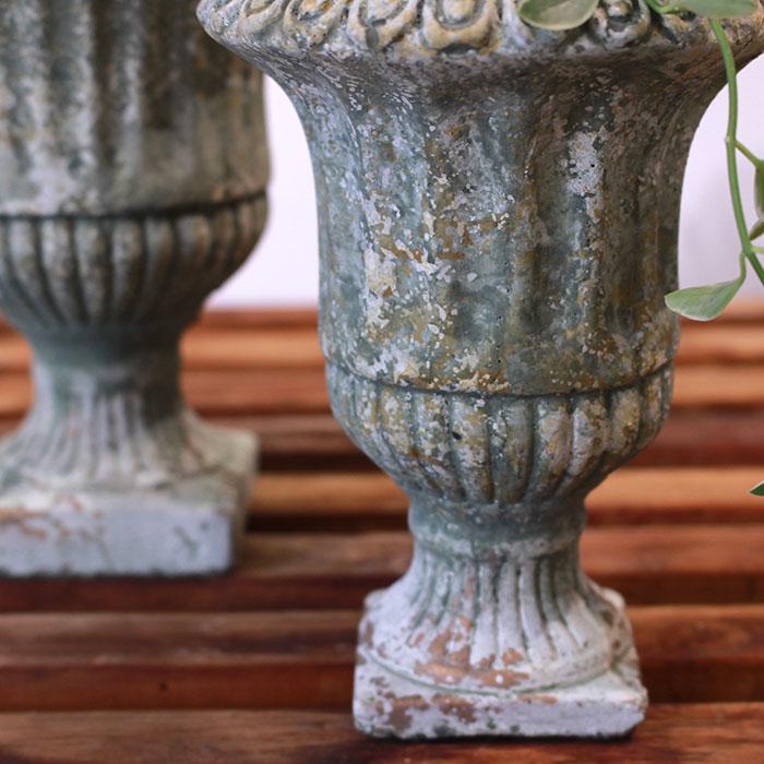 ROGE 鉢カバー XSサイズ  セメント  鉢カバー 観葉植物 アンティーク調05