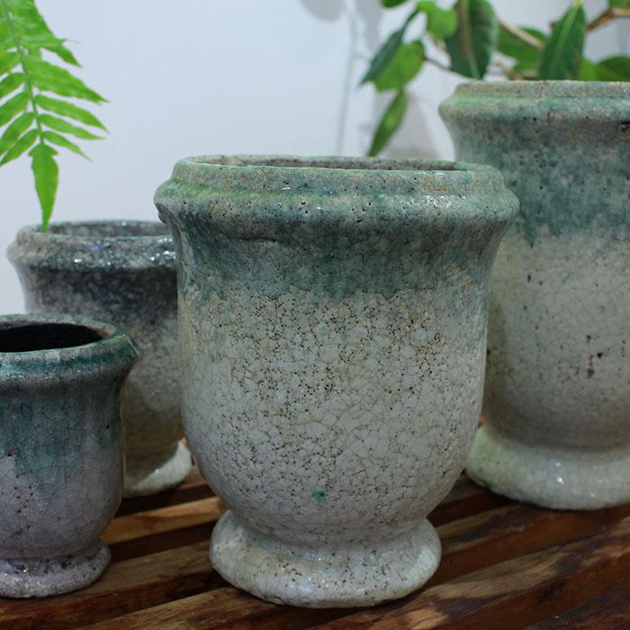 MELS 鉢カバー Sサイズ  陶器  鉢カバー 観葉植物  03