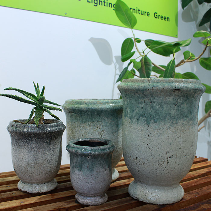 MELS 鉢カバー Mサイズ  陶器  鉢カバー 観葉植物05