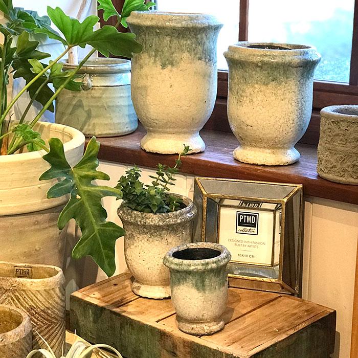 MELS 鉢カバー Mサイズ  陶器  鉢カバー 観葉植物08